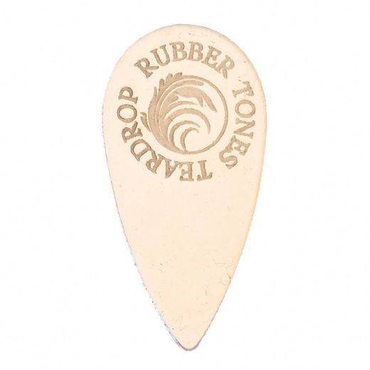 Rubber Tones Teardrop Clear Silicone 1 Pick